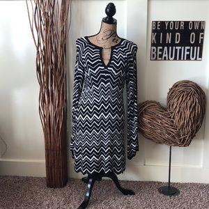 White House Black Market chevron knit dress